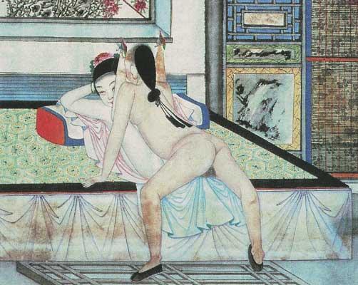 изображающая половой акт.